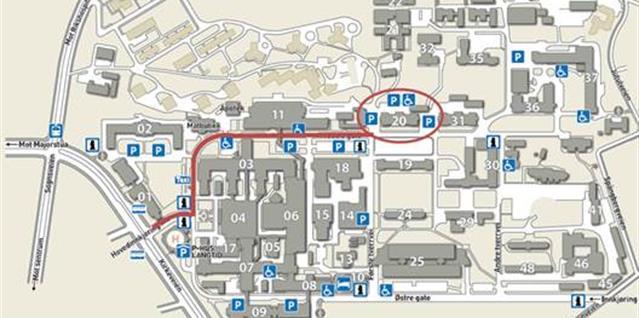 kart over ullevål sykehus Ullevål sykehus   bygg 20   Oslo universitetssykehus kart over ullevål sykehus