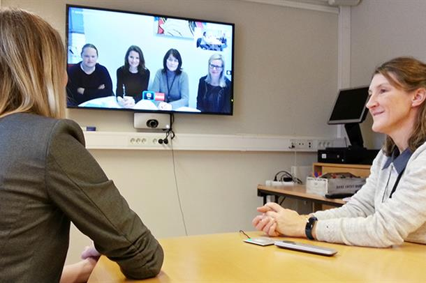 Videokonferanse - illustrasjonsbilde