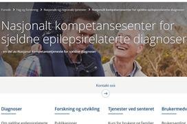 screenshot av epilepsisenterets nettside