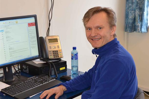 Frank Pettersen er fagansvarlig ved testpoliklinikken