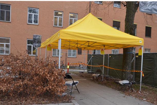 Foto fra teltet på Ullevål