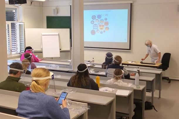 Studenter i klasserom