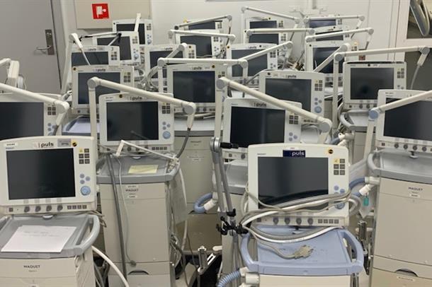 Bilde av respiratorer