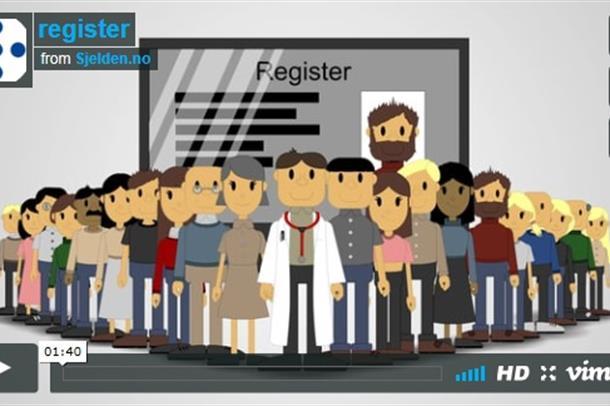 Bilde fra film om CF register