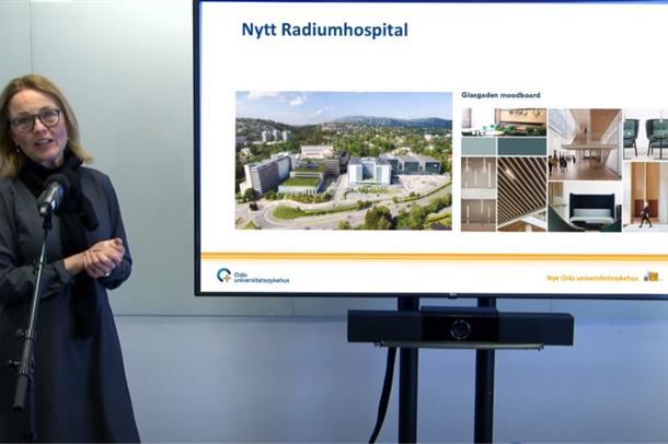 Inger Heiberg presenterer status for Nye Radiumhospitalet