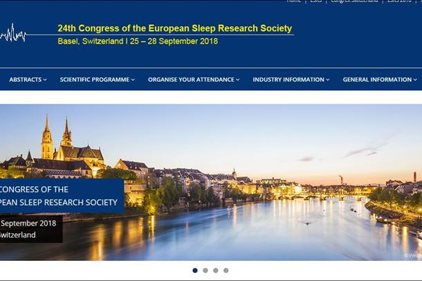 bilde av nettsiden til konferansen