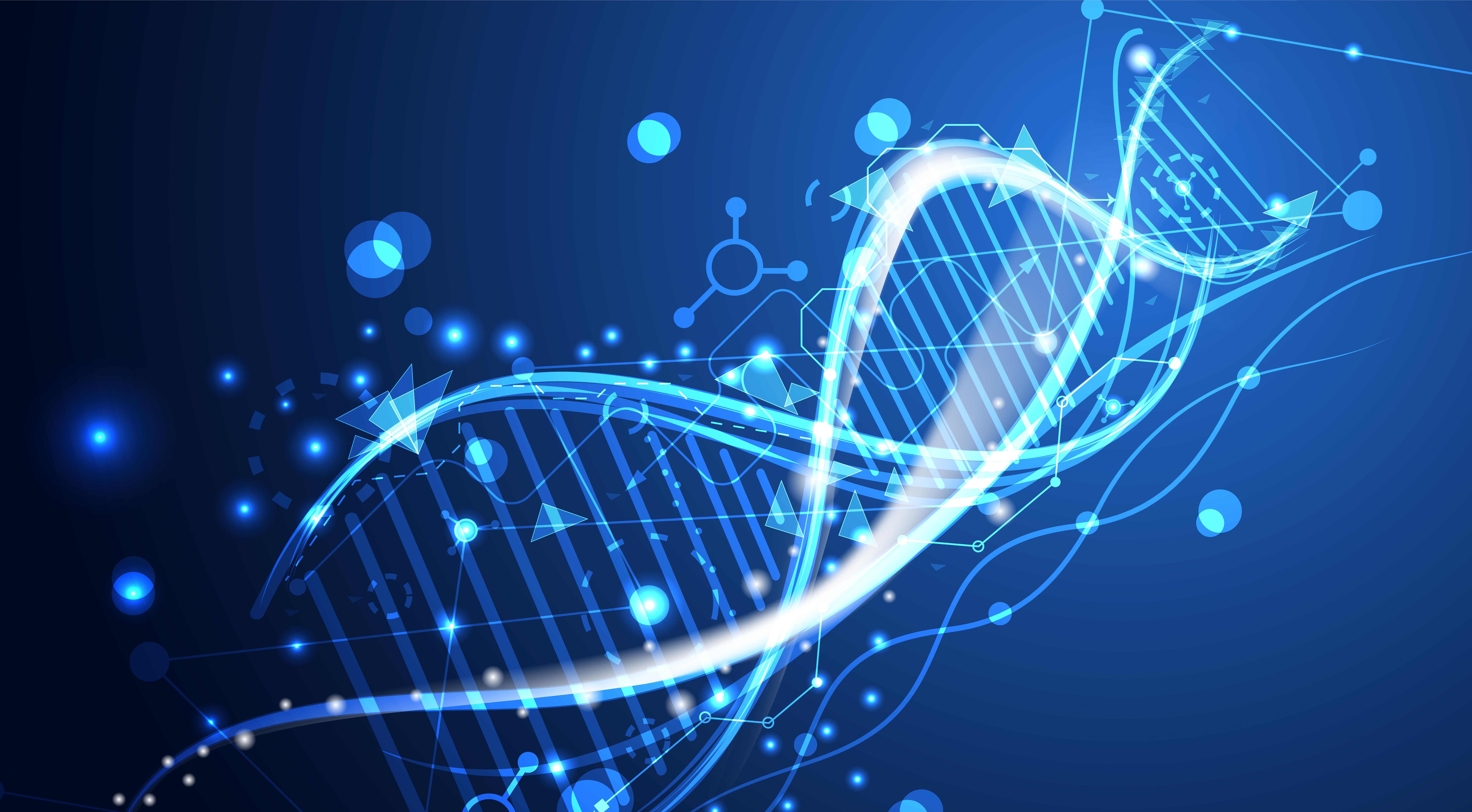 illustrasjon av gen