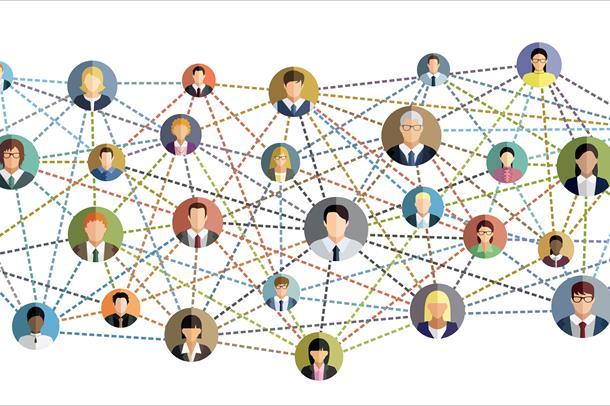 illustrajon av nettveri med folk