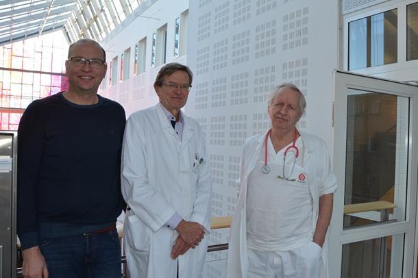 Foto av tre forskere